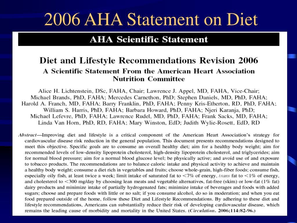 2006 AHA Statement on Diet