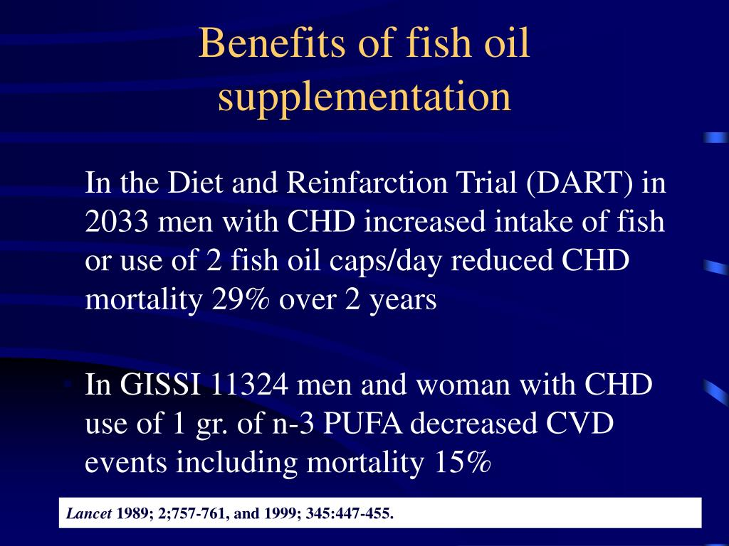 Benefits of fish oil supplementation