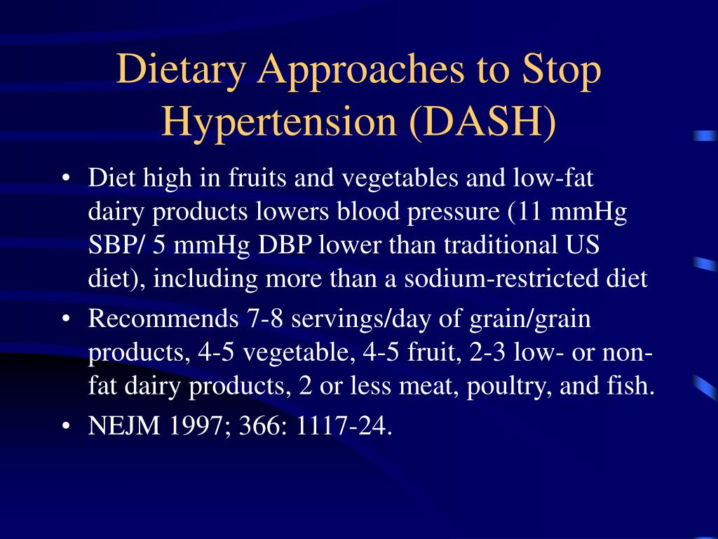 Dietary Approaches to Stop Hypertension (DASH)