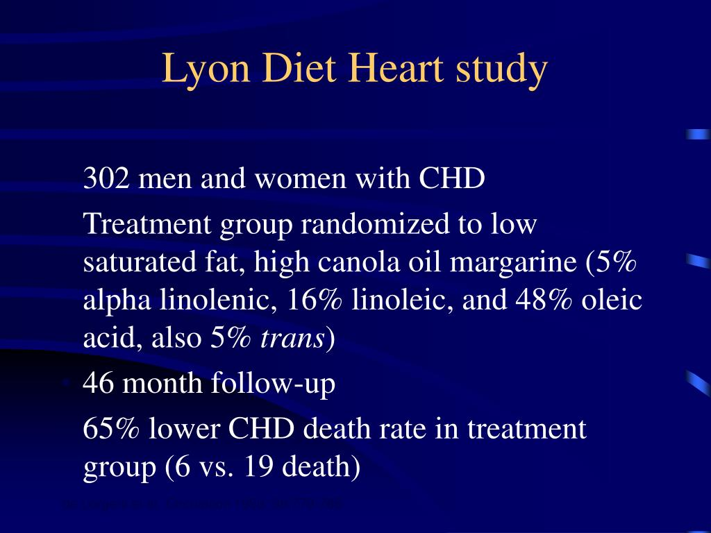 Lyon Diet Heart study