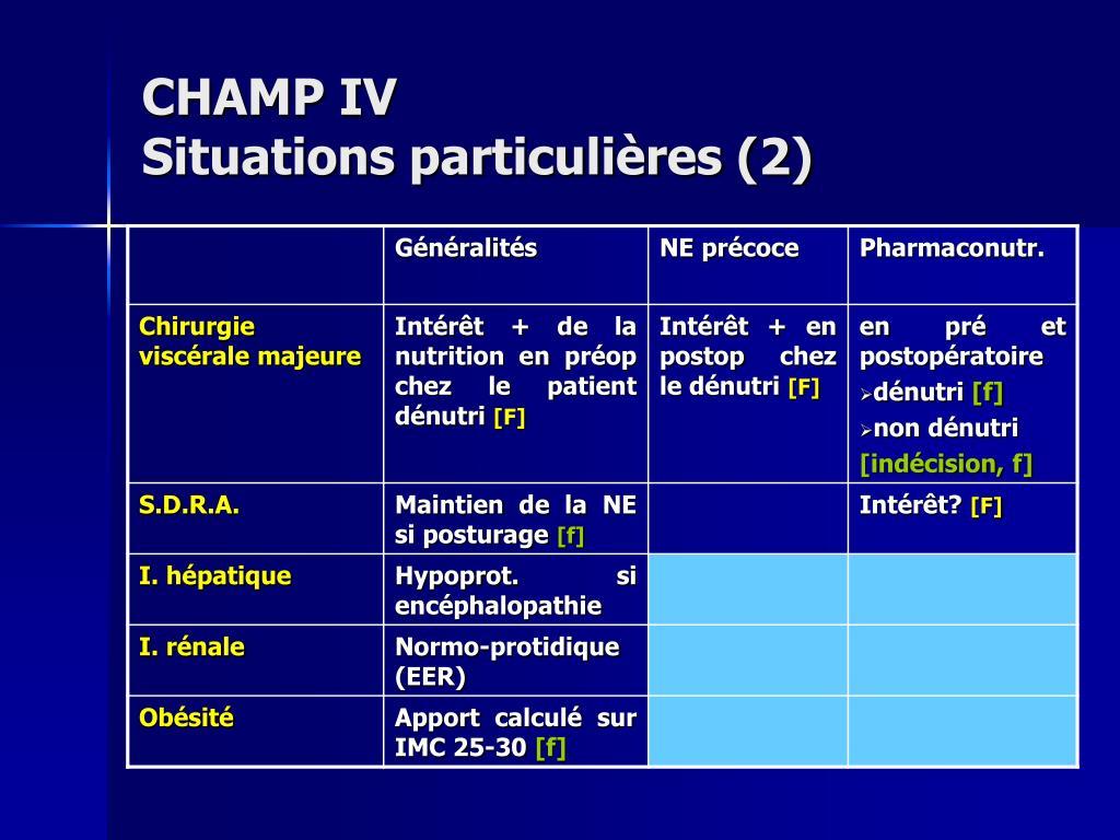 CHAMP IV