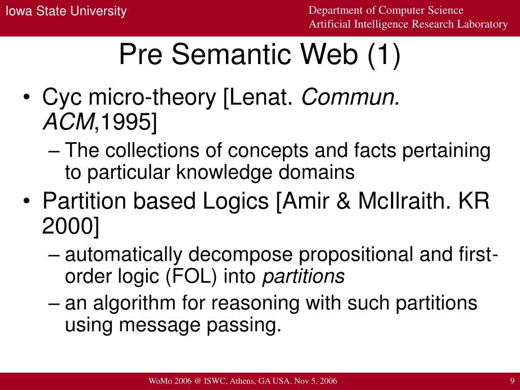 Pre Semantic Web (1)