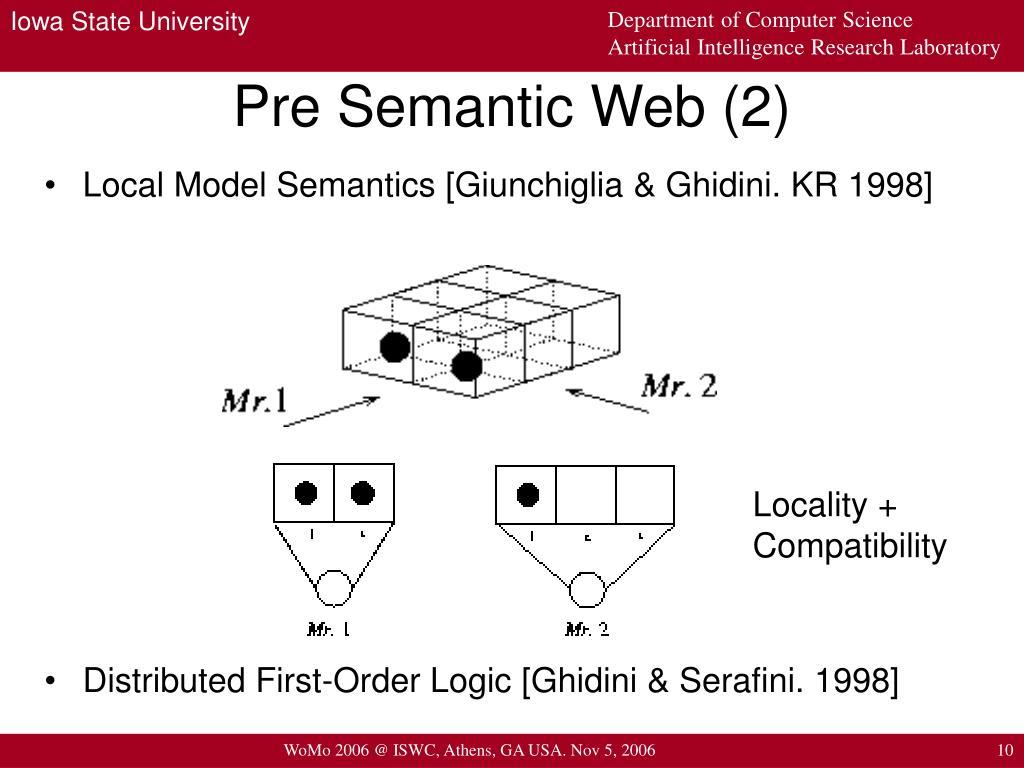 Pre Semantic Web (2)