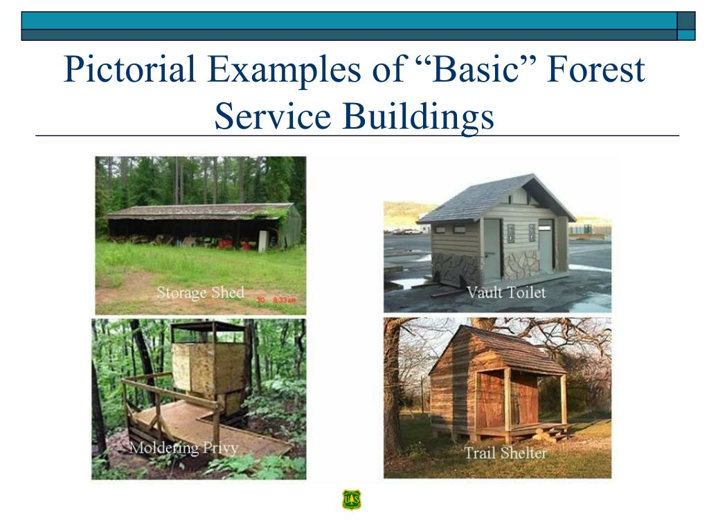 "Pictorial Examples of ""Basic"" Forest Service Buildings"