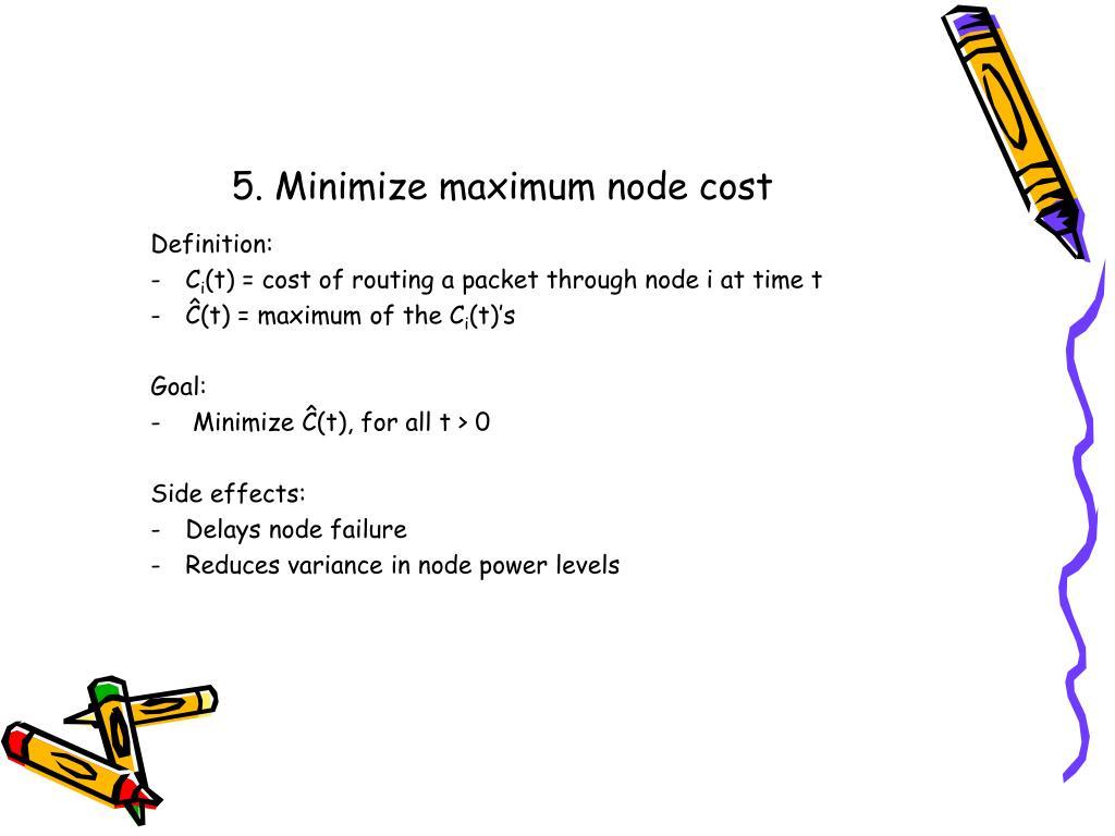 5. Minimize maximum node cost
