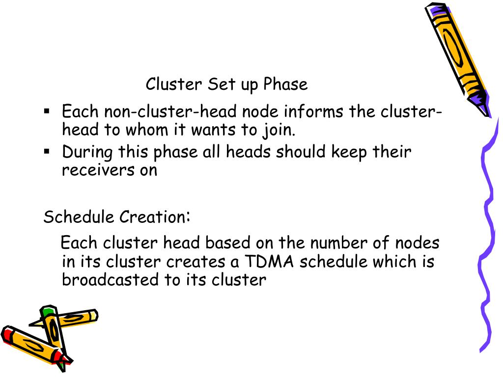 Cluster Set up Phase