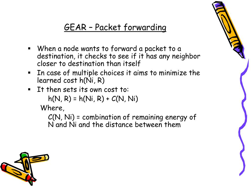 GEAR – Packet forwarding
