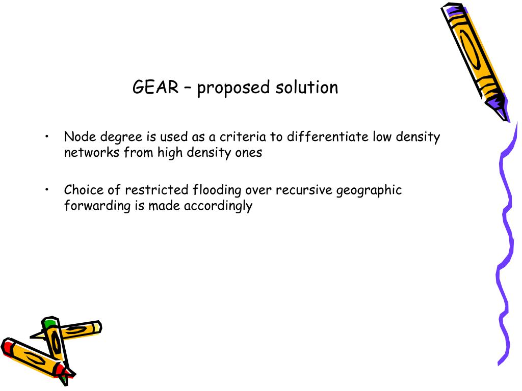 GEAR – proposed solution
