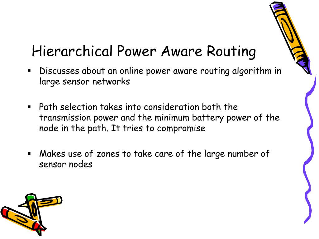 Hierarchical Power Aware Routing