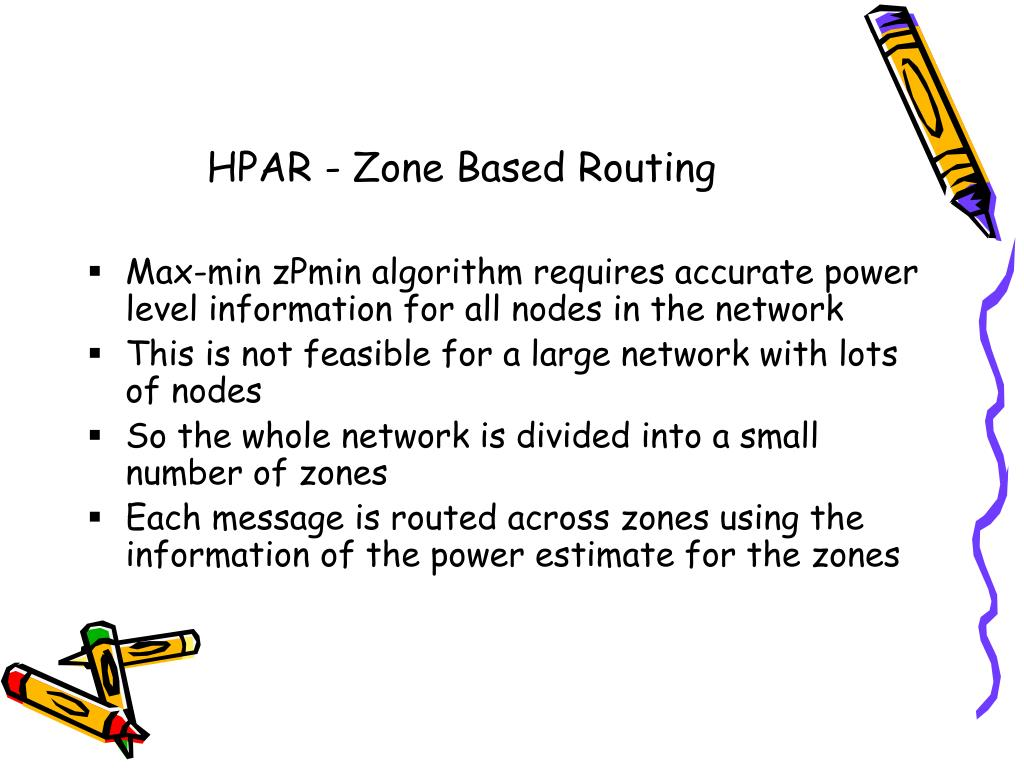 HPAR - Zone Based Routing