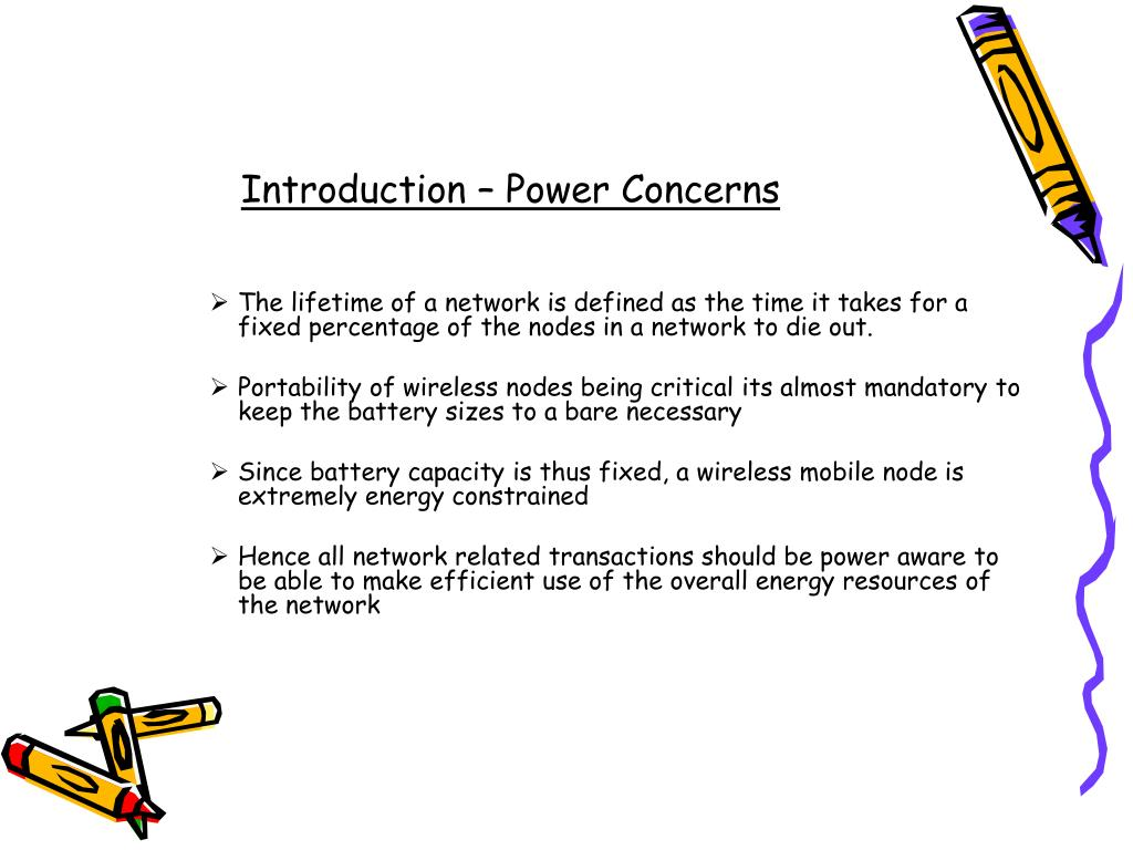 Introduction – Power Concerns