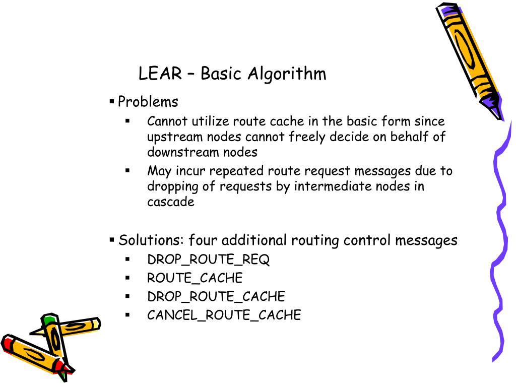 LEAR – Basic Algorithm