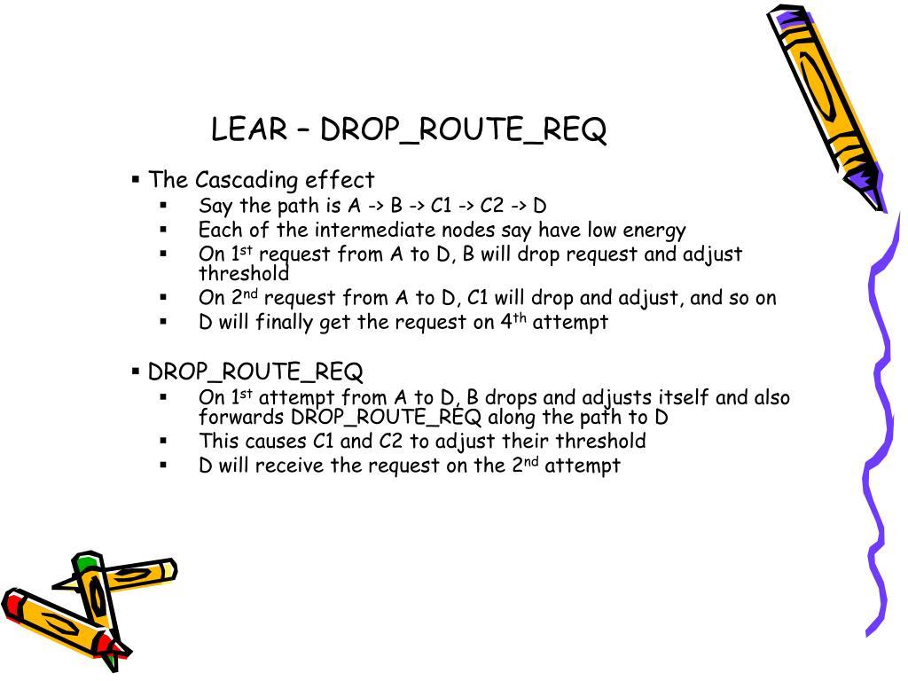 LEAR – DROP_ROUTE_REQ