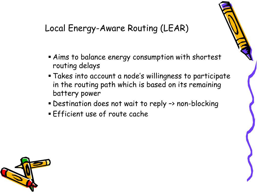 Local Energy-Aware Routing (LEAR)