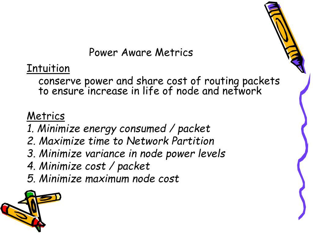 Power Aware Metrics