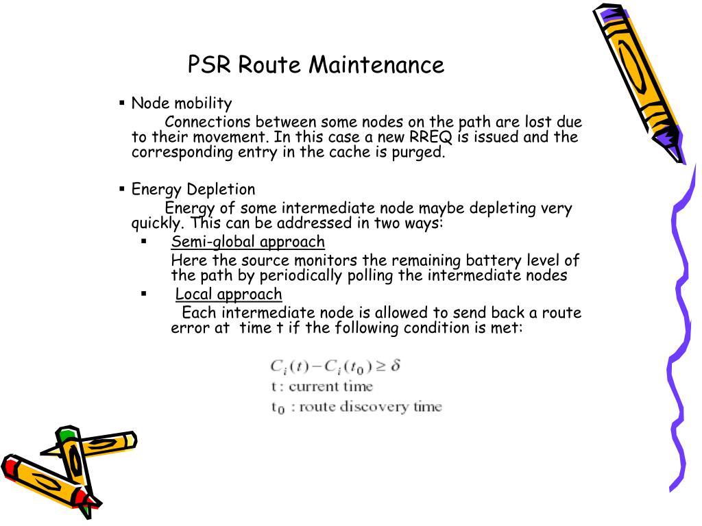 PSR Route Maintenance