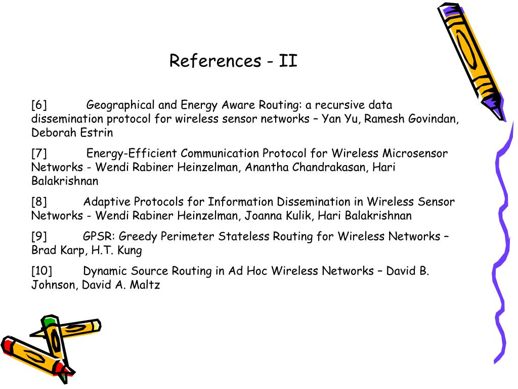 References - II