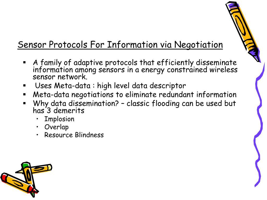 Sensor Protocols For Information via Negotiation