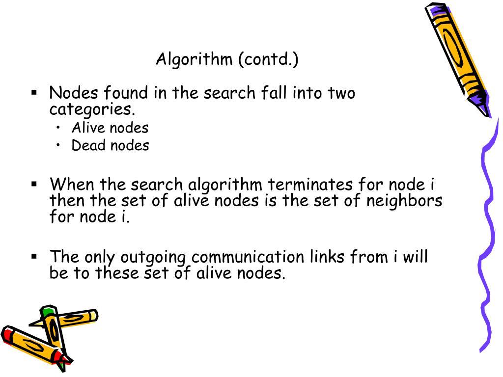 Algorithm (contd.)