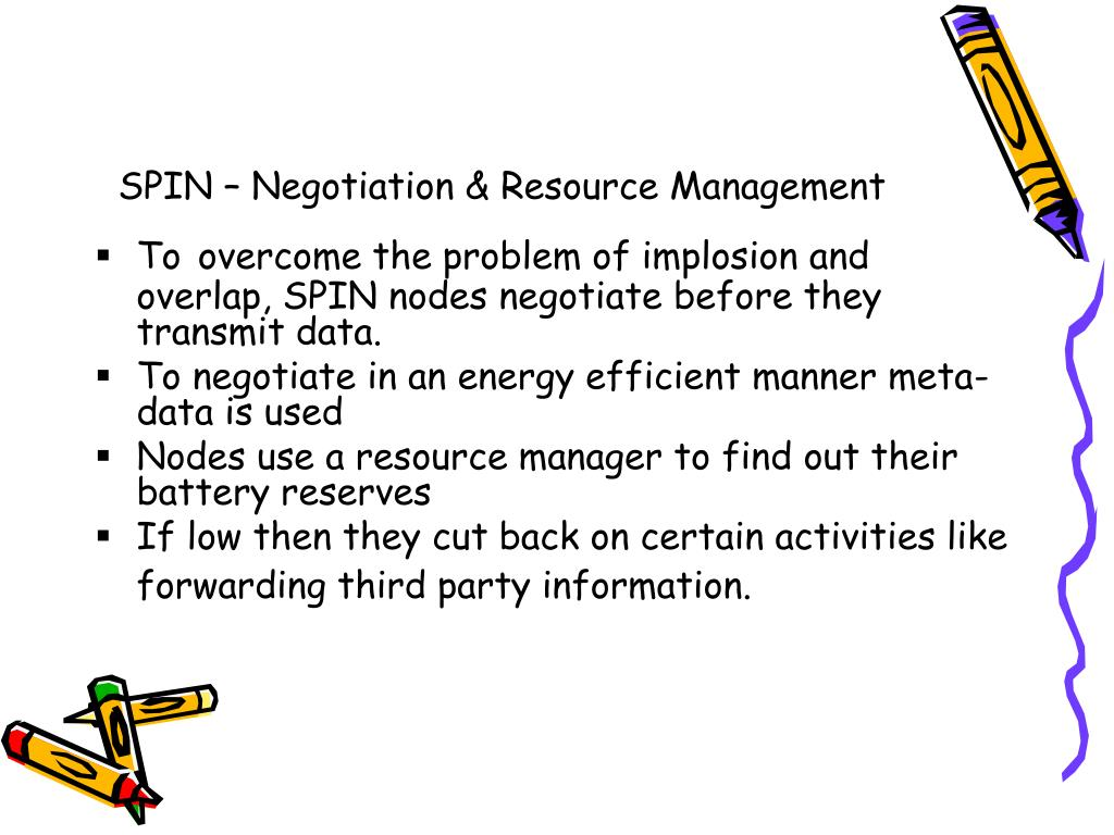SPIN – Negotiation & Resource Management