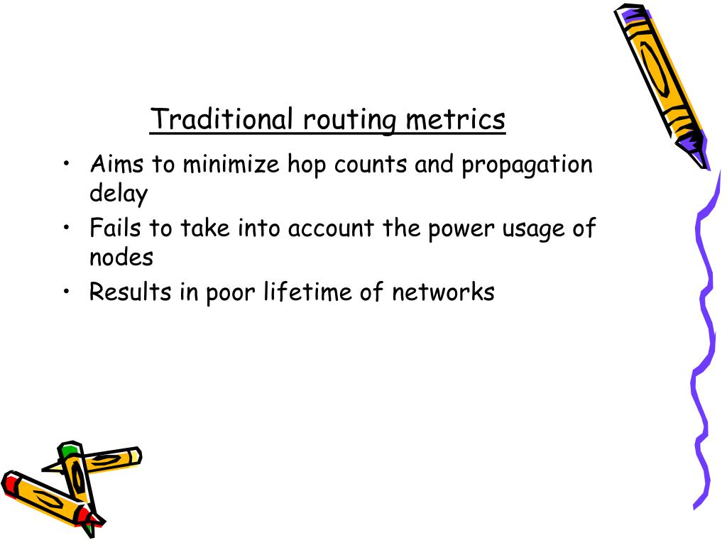 Traditional routing metrics