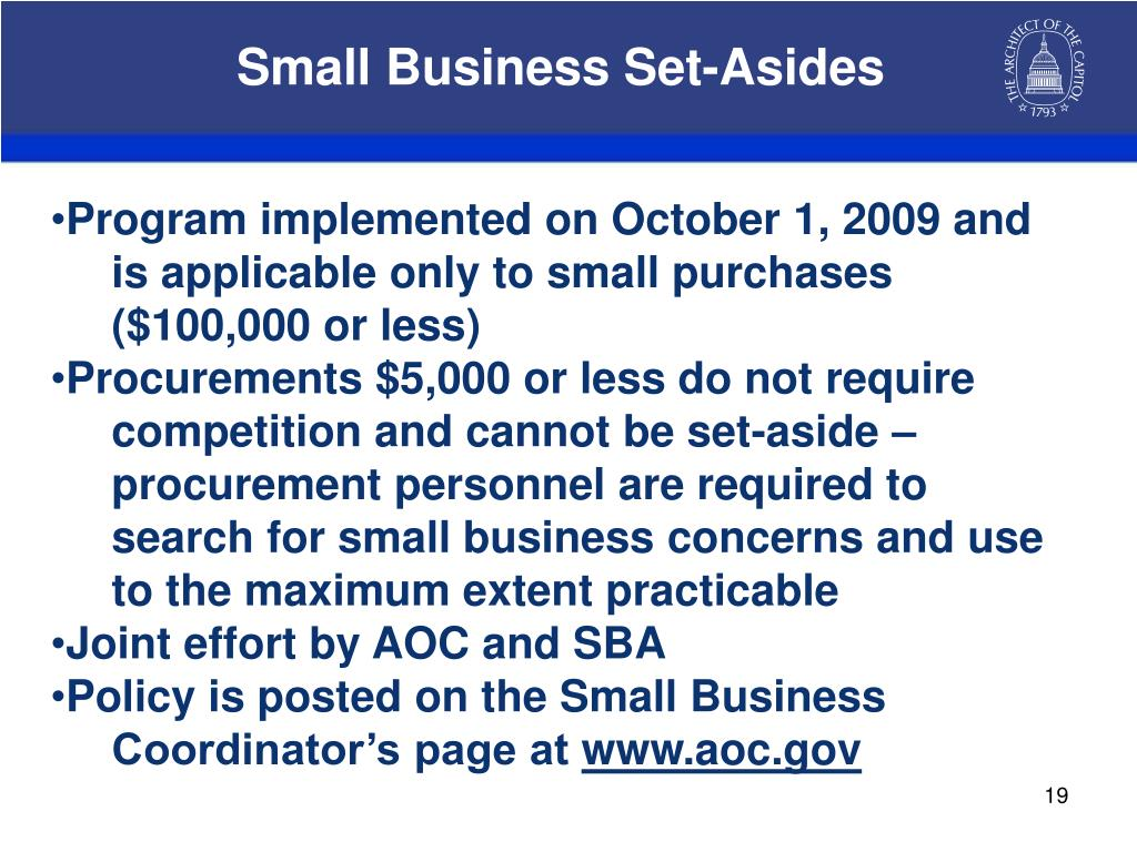 Small Business Set-Asides