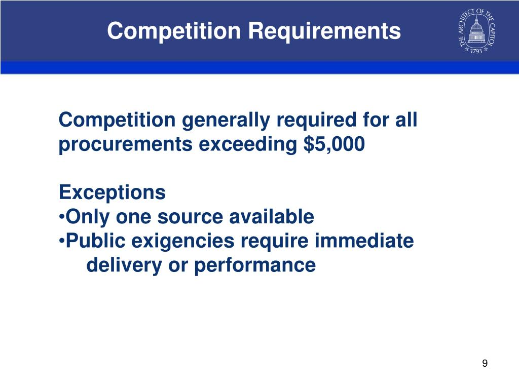 Competition Requirements