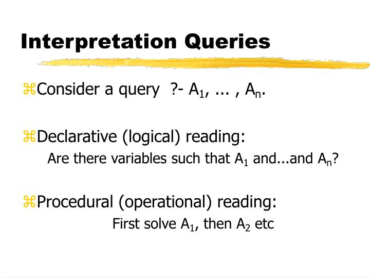 Interpretation Queries