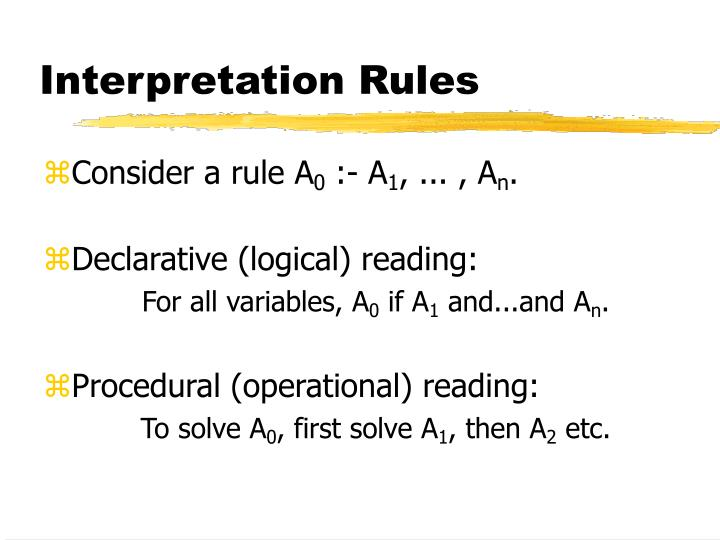 Interpretation Rules
