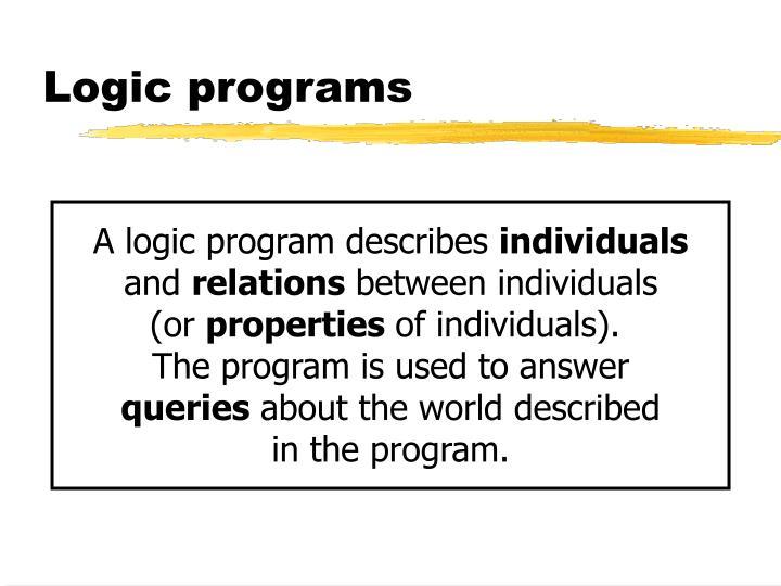 Logic programs