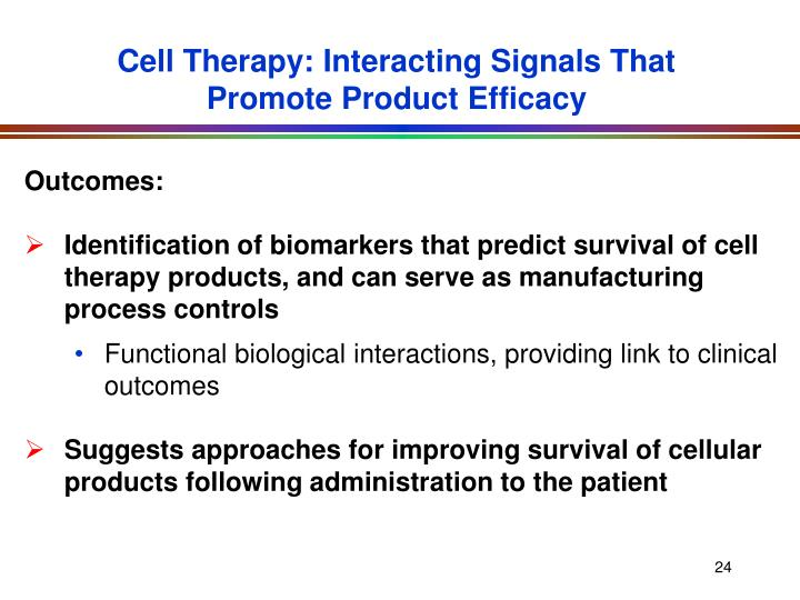 Cell Therapy: Interacting Signals That Promote Product Efficacy