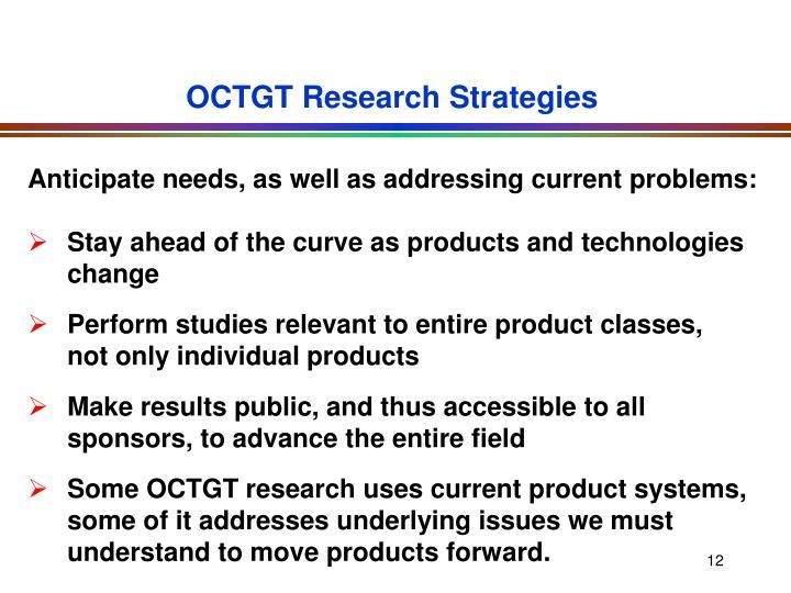 OCTGT Research Strategies