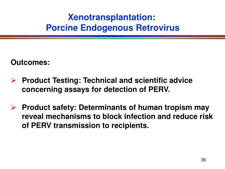 Xenotransplantation: