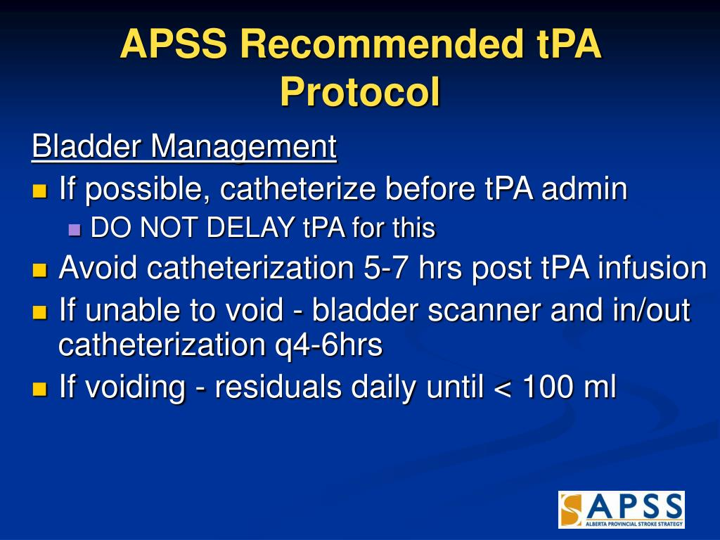 APSS Recommended tPA Protocol