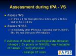 assessment during tpa vs