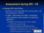 assessment during tpa vs28