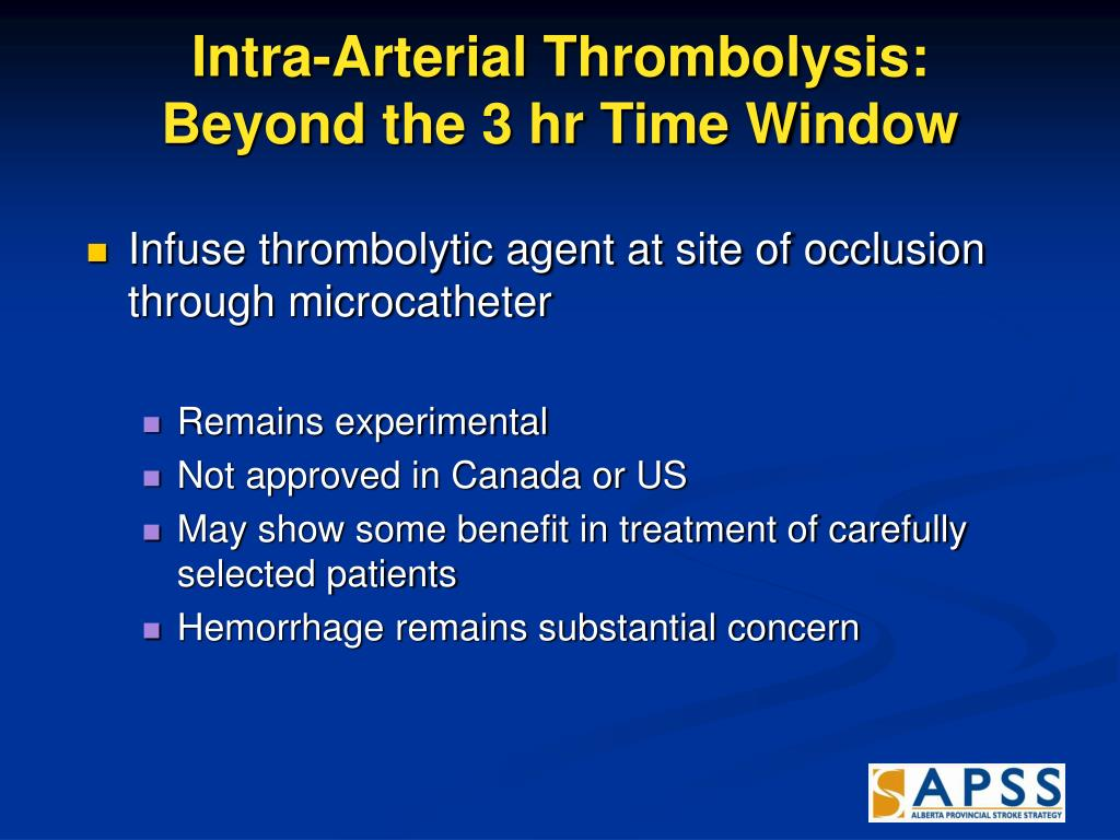 Intra-Arterial Thrombolysis: