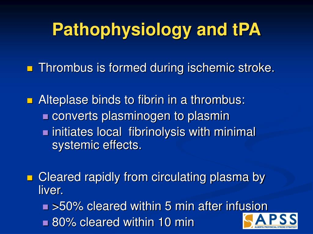 Pathophysiology and tPA