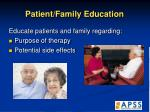 patient family education