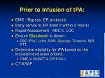 prior to infusion of tpa
