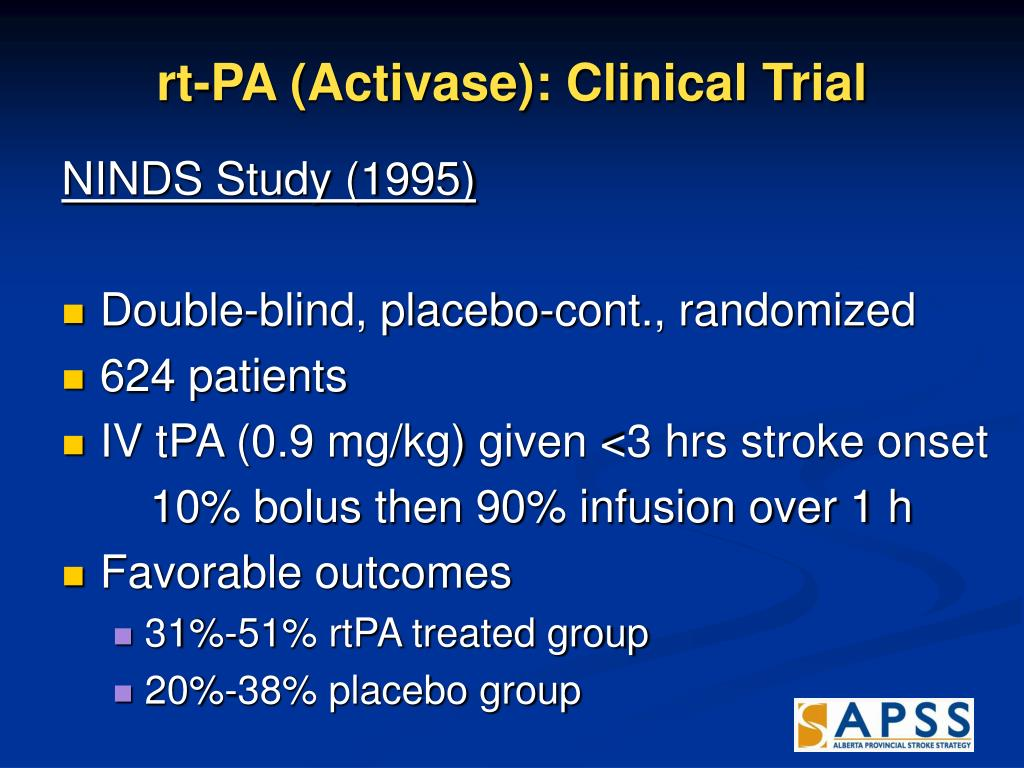 rt-PA (Activase): Clinical Trial