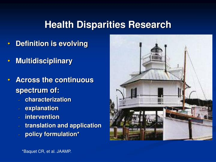 Health Disparities Research