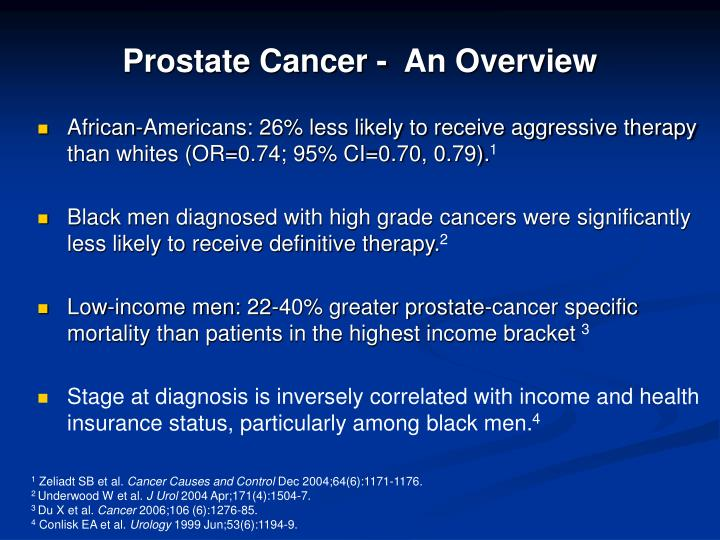 Prostate Cancer -  An Overview