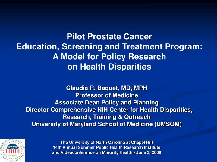 Pilot Prostate Cancer