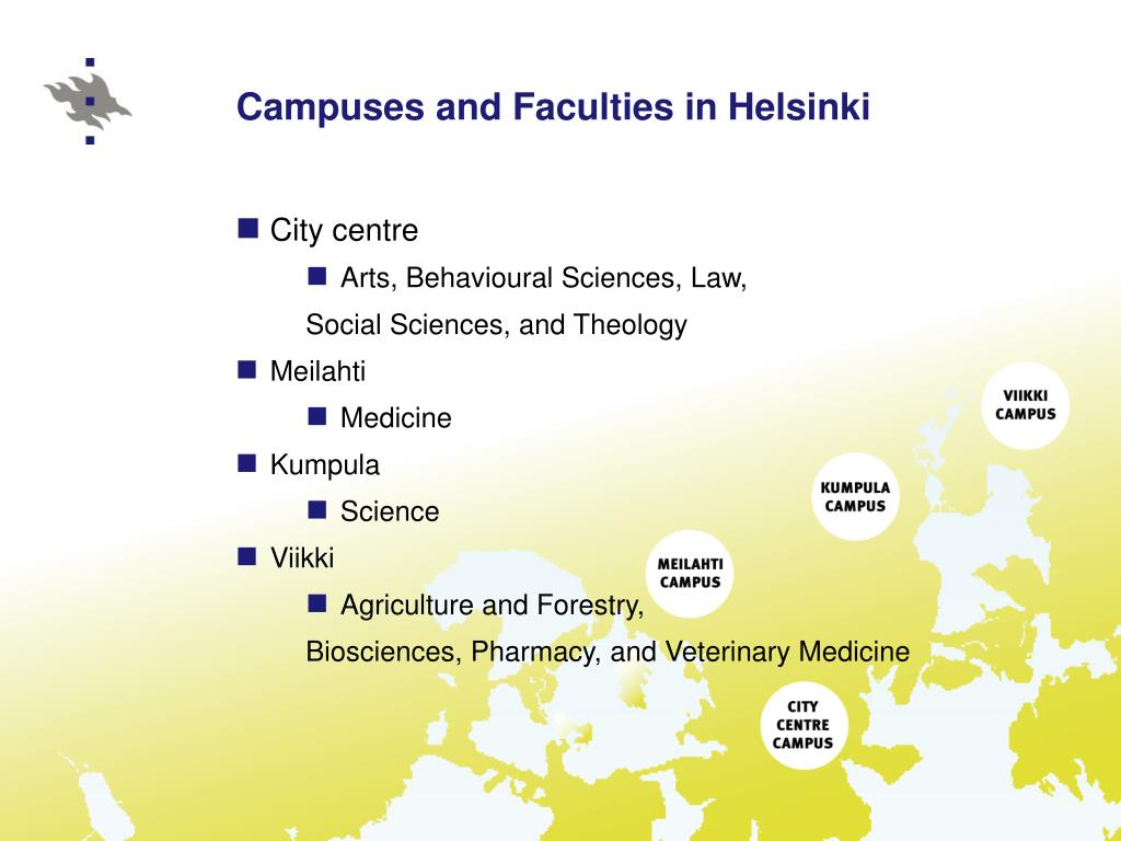 Campuses and Faculties in Helsinki