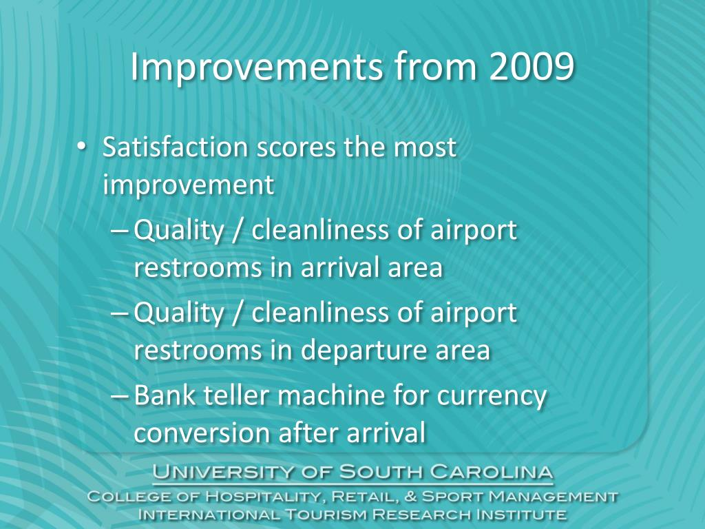 Improvements from 2009