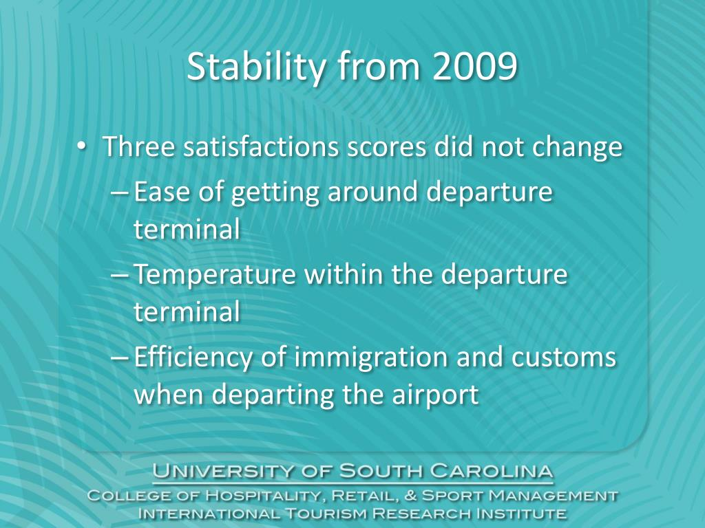 Stability from 2009