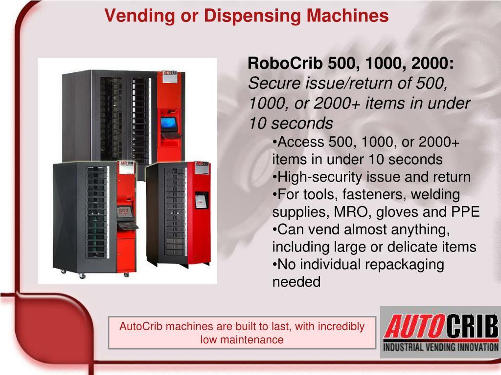 Vending or Dispensing