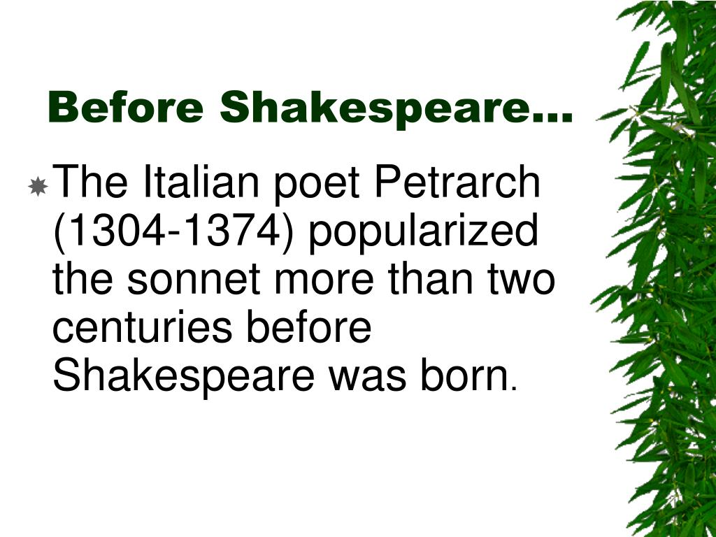 Before Shakespeare…
