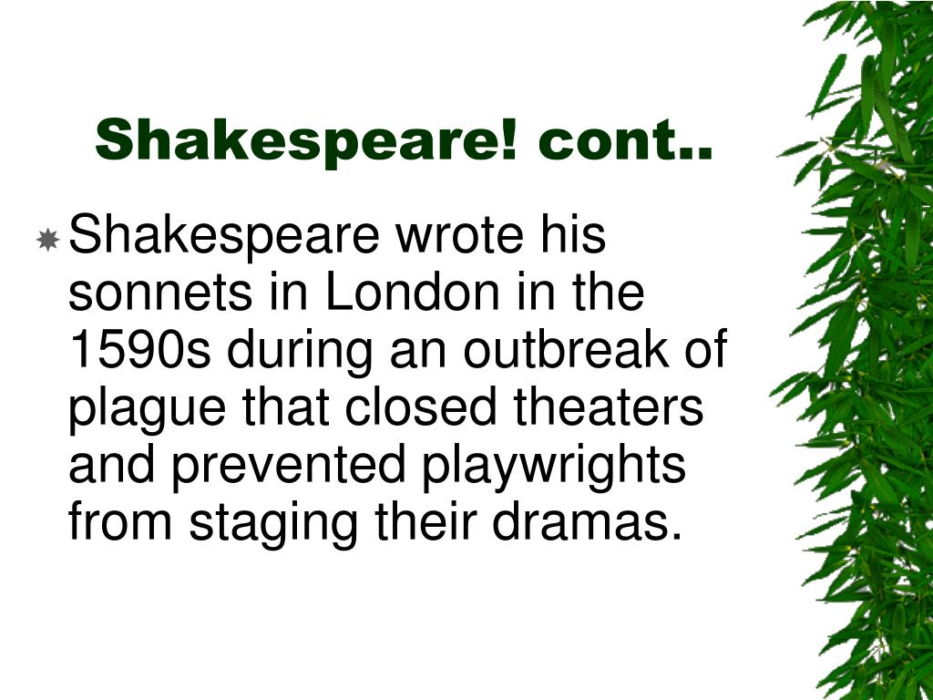 Shakespeare! cont..